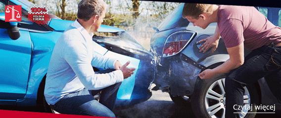wypadek drogowy dwóch samochodów
