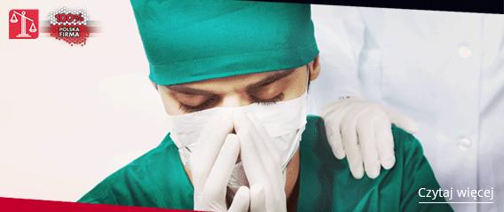 lekarz w stroju operacyjnym
